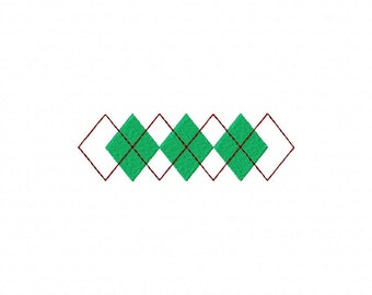 INSTANT DOWNLOAD Awesome Argyle Pattern Machine Embroidery Design