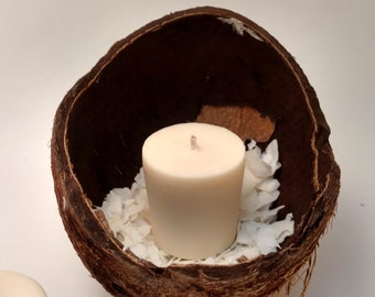 Coconut Craze Votives - Hand Poured Soy Candles