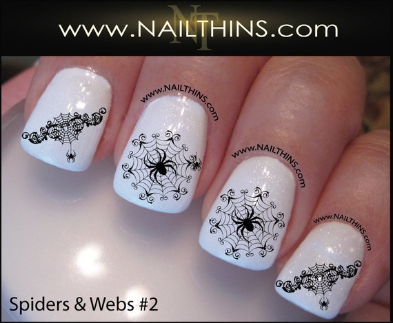 Spider web nail decal spider set no 1 halloween nail art web spider web nail decal spider set no 1 halloween nail art web nail designs nailthins prinsesfo Choice Image