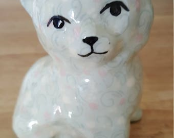 Floral cat collectible