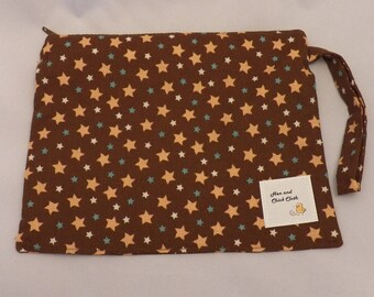 Small Wetbag- Brown Stars- 2013