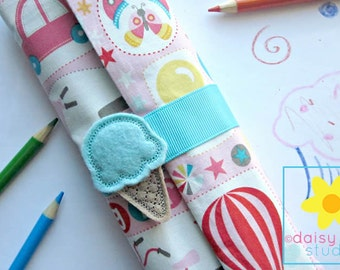 Pencil Roll, Pencil Wrap, Pencil Organizer, Color Pencil Holder, Color Pencil Case, Colored Pencil Roll, Color Pencil, Colored Pencils