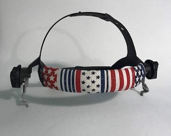 Patriotic Stripes And Stars Welding Hood Headband