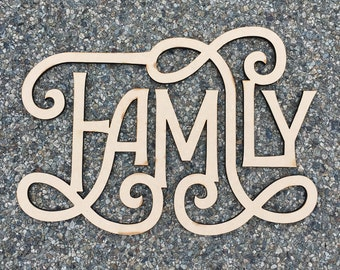 Family / Wood Sign  / Laser Cut / Wall Art