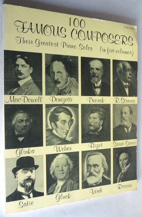 100 Famous Composers Their Greatest Piano Solos Volume 3 1974 Alexander Shealy 222 Pieces Copa Publishing