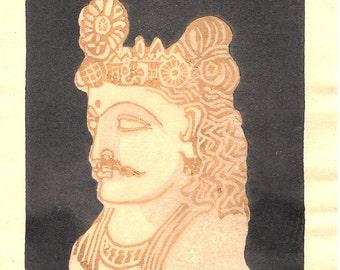 Japanese Ukiyoe, Woodblock print. Sosaku-Hanga.