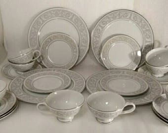 Massive 86pc Set of Imperial China by W. Dalton Japan 5671 Whitney Dishes (main : imperial china dinnerware - pezcame.com