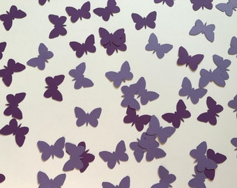 Shades of Purple Butterfly Confetti - Purple Butterfly Decorations - Butterfly Birthday Party Decorations - Garden Party Decorations
