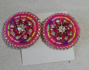 Beaded Costume Jewel  Earrings