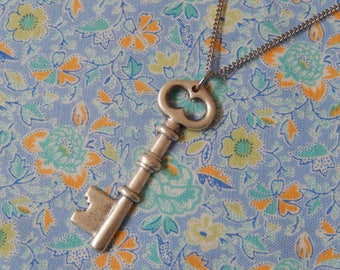Small Key Pendant Necklace