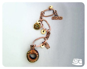Oval Links and Glass Ring Toggle Clasp Bracelet DIY Tutorial