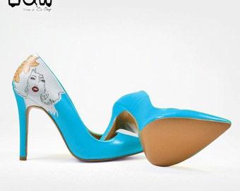 LILYLETTO COLOR - colorful heels, stiletto, hand painted shoes, unique design shoes, handmade design stiletto