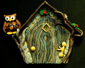 Winter OWL fairy door