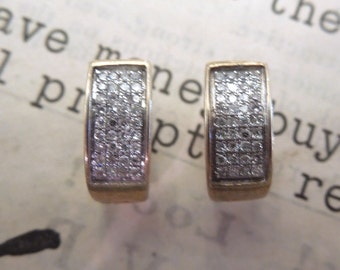 Perfect Little Diamond and Gold Earrings
