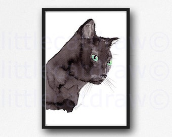 Custom Pet Portrait, Cat Dog Watercolor Painting, Made to Order Pet Portrait, Cat Painting, Custom Pet Painting, Cat and Dog Gift