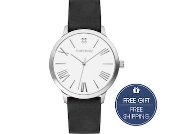 Womens Watch Silver, Minimalist Watch, Ladies Watch, Wrist Watch, Watches for Women, Mothers Day Personalized Gift, Silver Watch Women