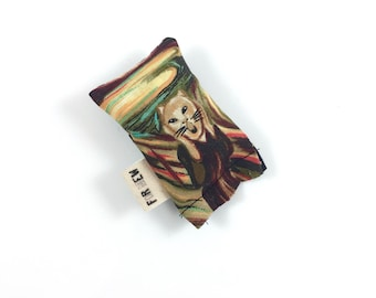 The Scream Cat Green Bean Organic Eco Friendly Catnip Cat Toy For Mew, Gift For Cat Lover
