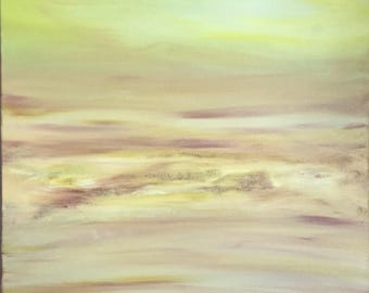 """Desert Sand Storm -  Abstract Acrylic Painting  """"24""""x 30"""""""
