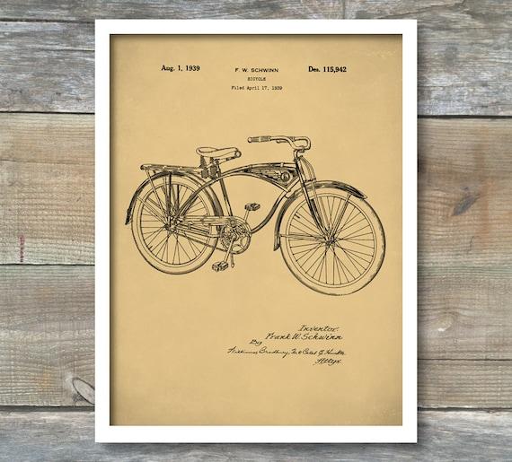 Schwinn bike poster schwinn bike patent schwinn bike print like this item malvernweather Images