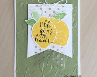 If Life Gives You Lemons Live It With Zest Greeting Card