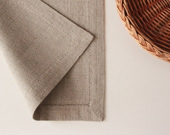 Rustic burlap placemat - linen placemats - place mats for farmhouse table setting by Linenspace   0074