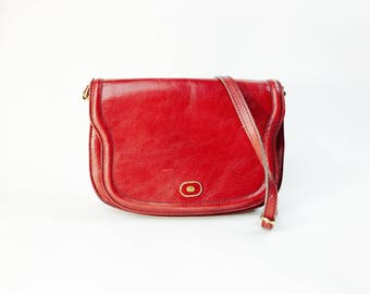 Cute vintage Crossbody leather bag