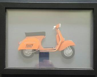 Vespa scooter 3D illustration