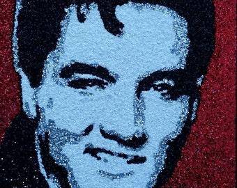 Elvis -Glitter Art-9x12