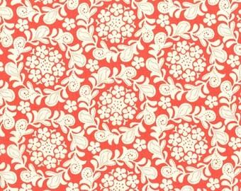 Strawberry Moon - Petit Henna Garden in Coral by Sandi Henderson- 1 yard - Michael Miller Fabric