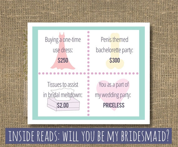 Honor Or Honour On Wedding Invitations: Ask Bridesmaid Will You Be My Bridesmaid Invitation Maid