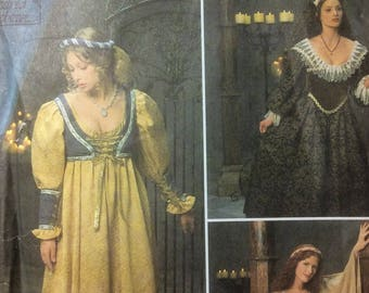 Costume Sewing Pattern Medieval & Renaissance Gowns Size Misses 16-18-20 UNCUT 2002 Dresses Bodices Headresses