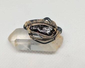 Size 10.5 etched spessartine garnet ring