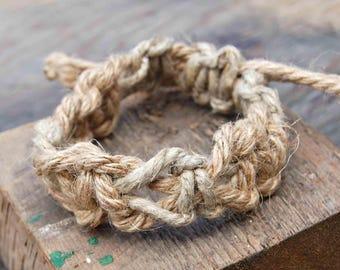 Mens Hemp Bracelet, Natural Hemp Bracelet, Surfer Bracelet, Hemp Bracelet for Men, Mens Jewelry, Mens Bohemian Jewelry, Mens Boho Jewelry
