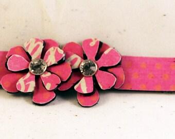 Unique Leather Handmade Bracelet, Cuff, Leather Bracelets for Women, Flower Jewelry, Boho Jewelry, Cuff Bracelet