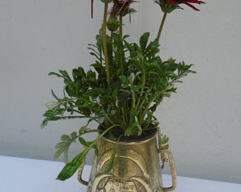 Vintage 50s brass planter