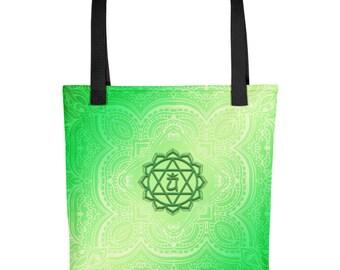 Green Heart Chakra Tote bag