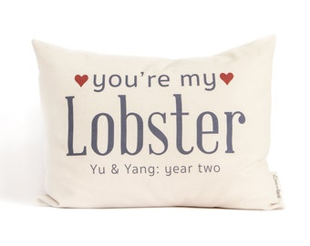 You're My Lobster, Anniversary Gift, 2nd Anniversary Cotton Gift, Two Year Anniversary, Gift For Him, Gift For Wife, Gift for Her