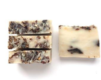 Silk Soap with rose petals , Silk Soap, All Natural Soap, Handmade Soap