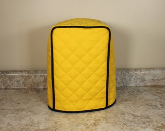 Coffee Maker Cover - 3 Sizes in over 300+ color combos (Pencil Yellow/Black shown) - Gift under 25 - Great Wedding or Shower Gift!