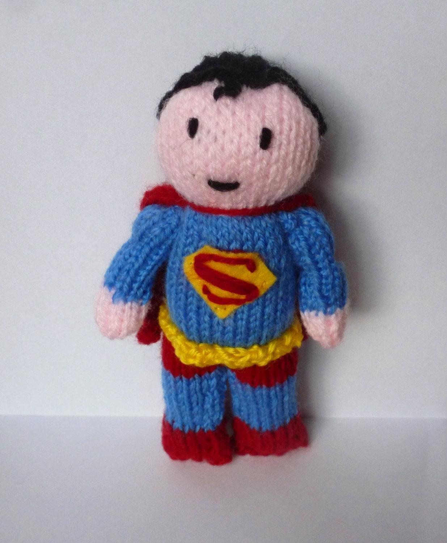 PDF knitting pattern: Superman from NerdKnitting on Etsy Studio