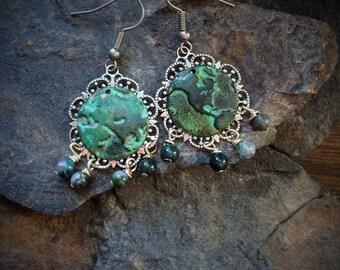 Planet Earth Earrings, Earth Earrings, World Earrings, Globe Earrings, Antique Globe Earrings, Old Map Earrings, Earth day earrings