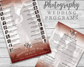 Custom Photography Wedding Ceremony Programs