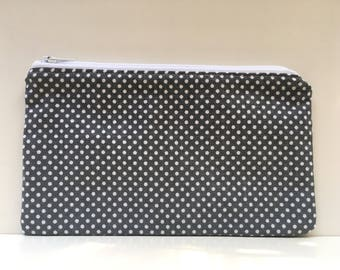 Reusable Snack Bag, Kid Snack Bag, Polka Dot