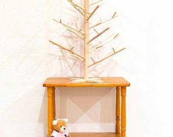 2 foot tall Contempoary Modern Minimalist Wooden Dowel Table Top Christmas Tree Handmade