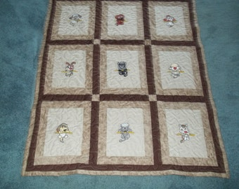 SALE ITEM Handmade Baby quilt