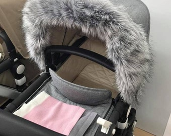 Custom Hood Fur Trim to fit Bugaboo iCandy Quinny Silver Cross and many more