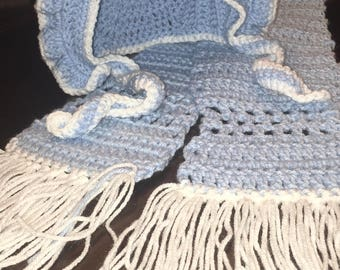 Hat and scarf combo - HANDMADE - Crochet