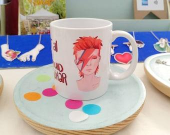 David Bowie Ziggy stardust Aladdin Sane ceramic mug