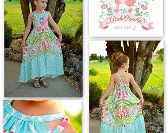 Girls Dress Pattern, PDF Sewing Patterns, Girls Sewing Pattern, Maxi Dress Pattern, The Sophia Maxi Dress