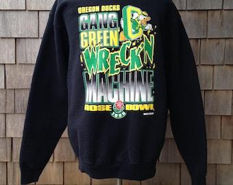 Vintage 90s OREGON DUCKS sweatshirt - 1995 Rose Bowl - Medium / Small - University of Oregon - Salem Sportswear hBZd3TjCJT